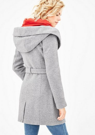 S.oliver Red Label Wool Coat With Hood