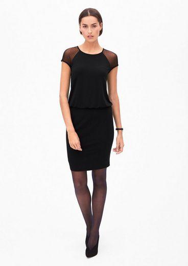 s.Oliver BLACK LABEL Kurzes Kleid mit Netzspitze