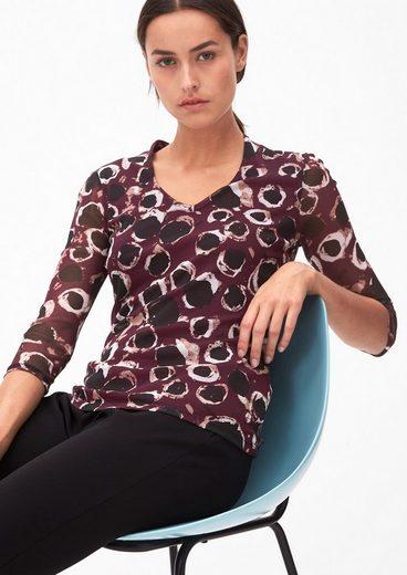 s.Oliver BLACK LABEL Mesh-Shirt mit Allover-Print