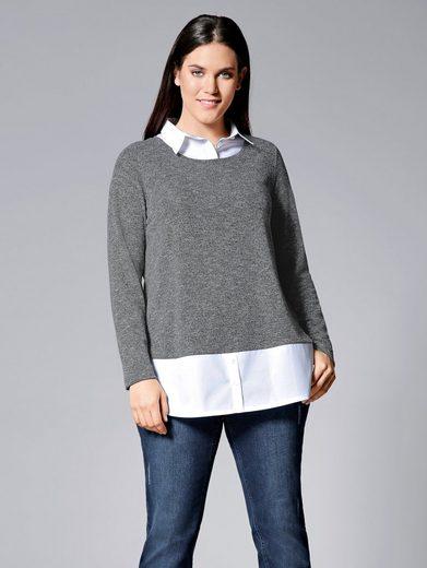 Janet und Joyce by Happy Size 2-in-1-Shirt in Leichtstrickoptik