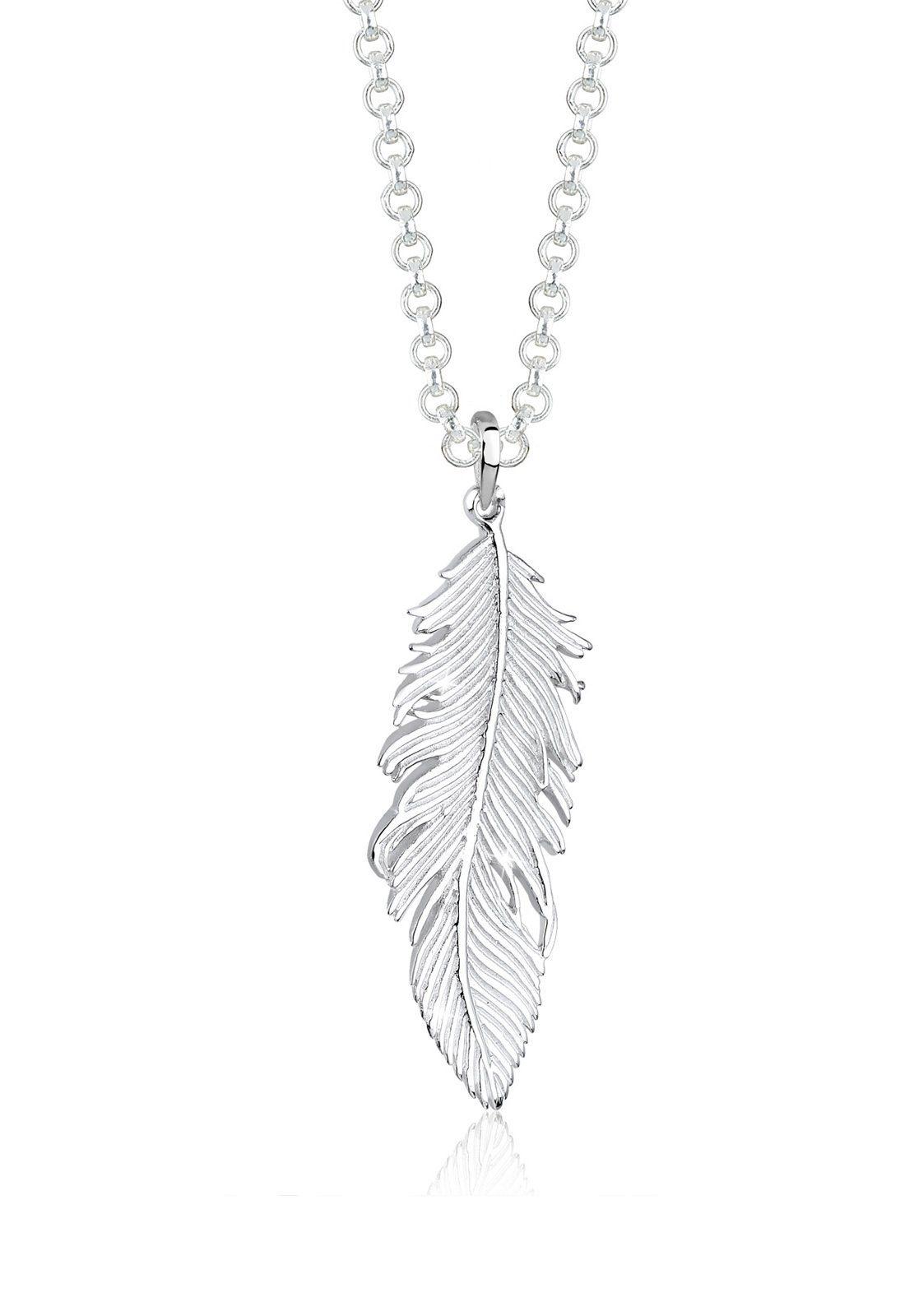 Elli Halskette »Feder Bohemian Beach Gypsy 925 Sterling Silber«
