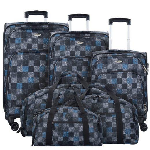 Franky T1 4-Doppelrollen Trolley Kofferset mit Reisetaschen 6tlg.