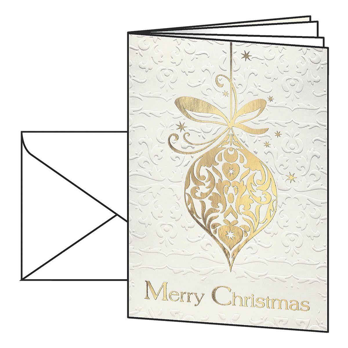 Sigel Weihnachtskarten mit Umschlägen »Golden Fantasy«