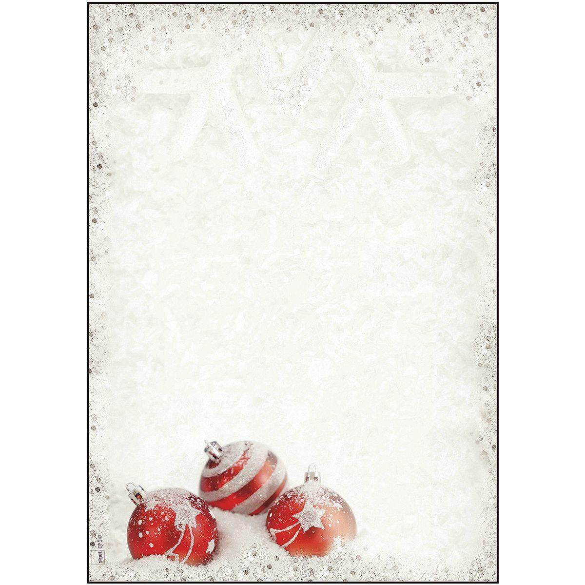 Sigel Weihnachts-Motivpapier »Winter Flair«
