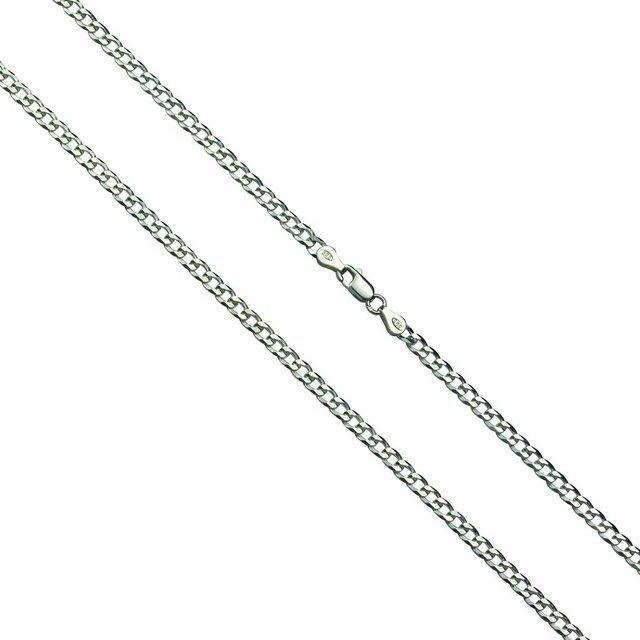 Firetti Collier »Panzerkette 925-/ Sterling Silber rhod.« | Schmuck > Halsketten > Panzerketten | Weiß | Firetti