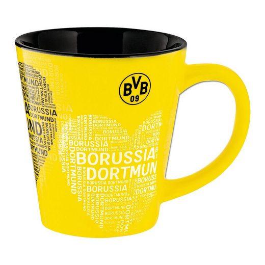 Tasse Borussia Dortmund, mit Herz, 300 ml