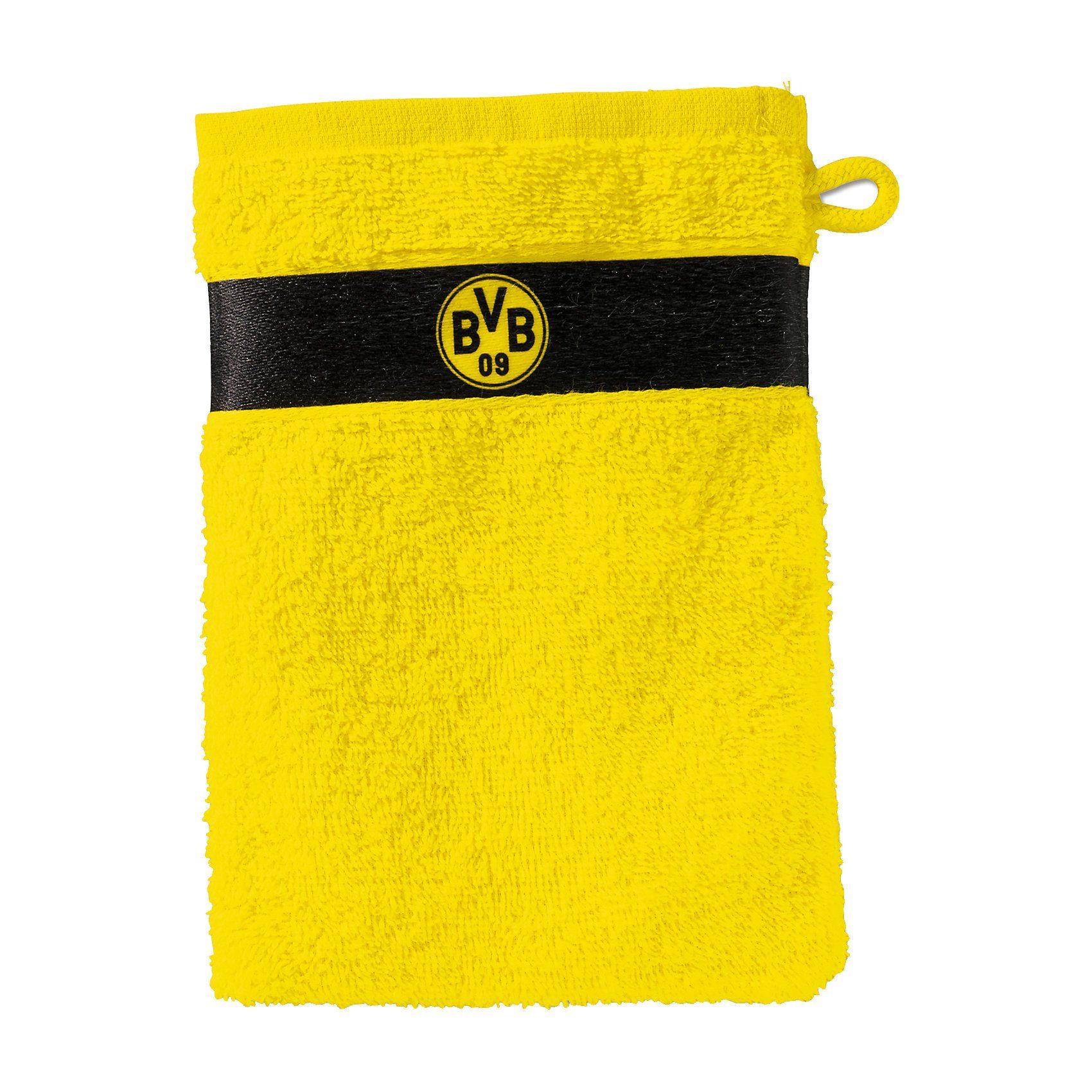 Borussia Dortmund Waschhandschuh BVB, gelb, 16 x 21 cm