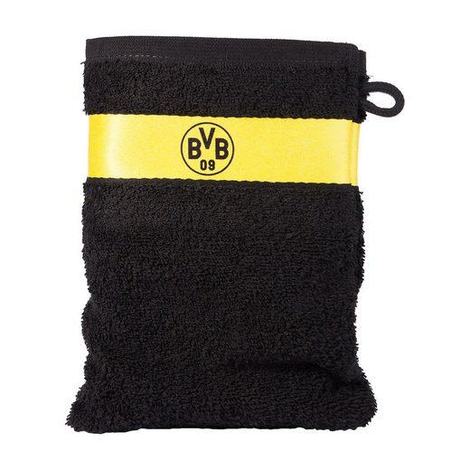 Borussia Dortmund Waschhandschuh BVB, schwarz, 16 x 21 cm ...
