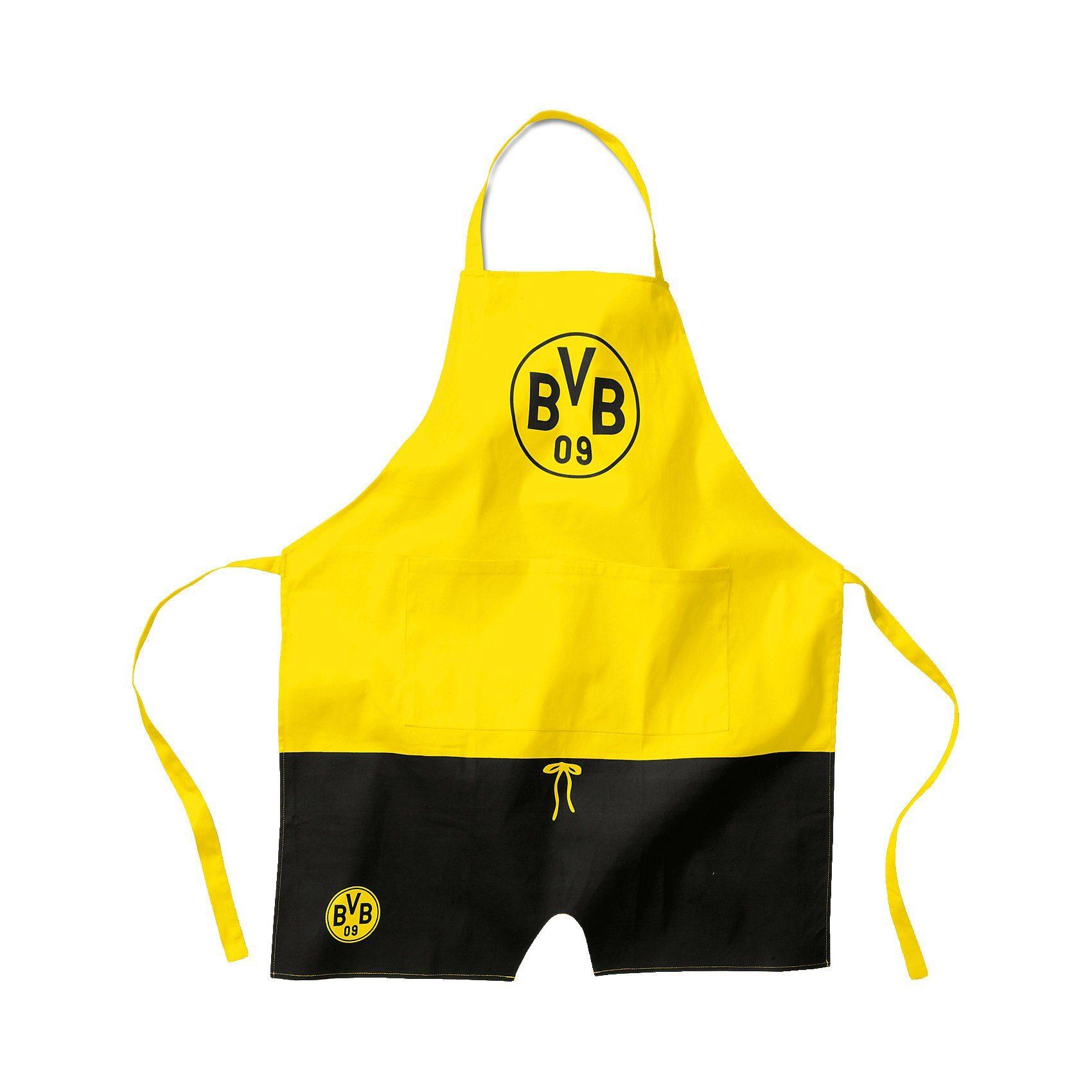Borussia Dortmund Kinder Koch- und Backschürze BVB, schwarz/gelb