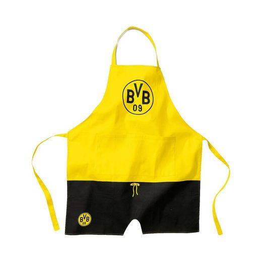 Borussia Dortmund Koch- und Backschürze BVB, schwarz/gelb