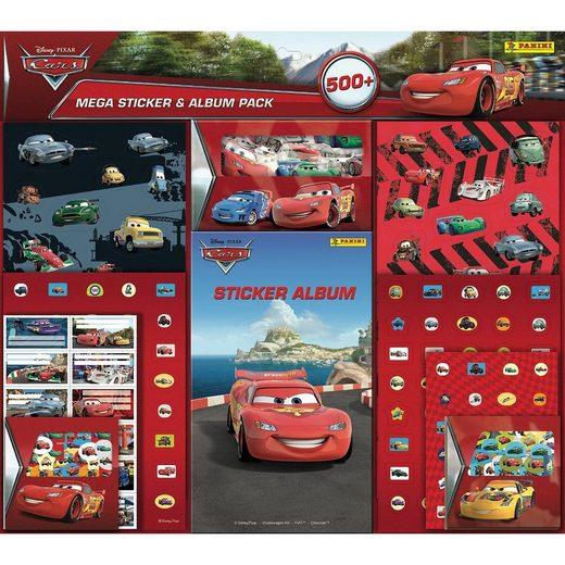 PANINI Mega-Stickerset Cars, inkl. Stickeralbum, über 500 Te
