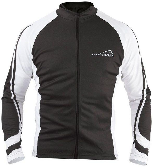 OUTSTARS Fahrradtrikot »RO 7101«, Langarm | Sportbekleidung > Trikots > Fahrradtrikots | Schwarz | roleff