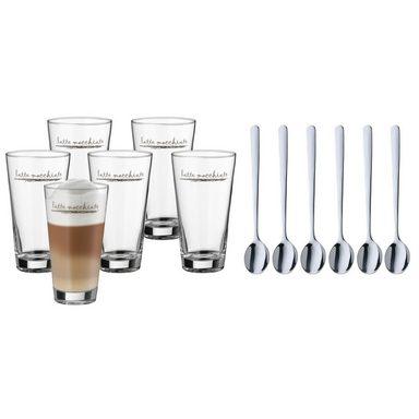 WMF Latte Macchiato Gläser-Set 6 Stück mit Löffel »Clever & More«