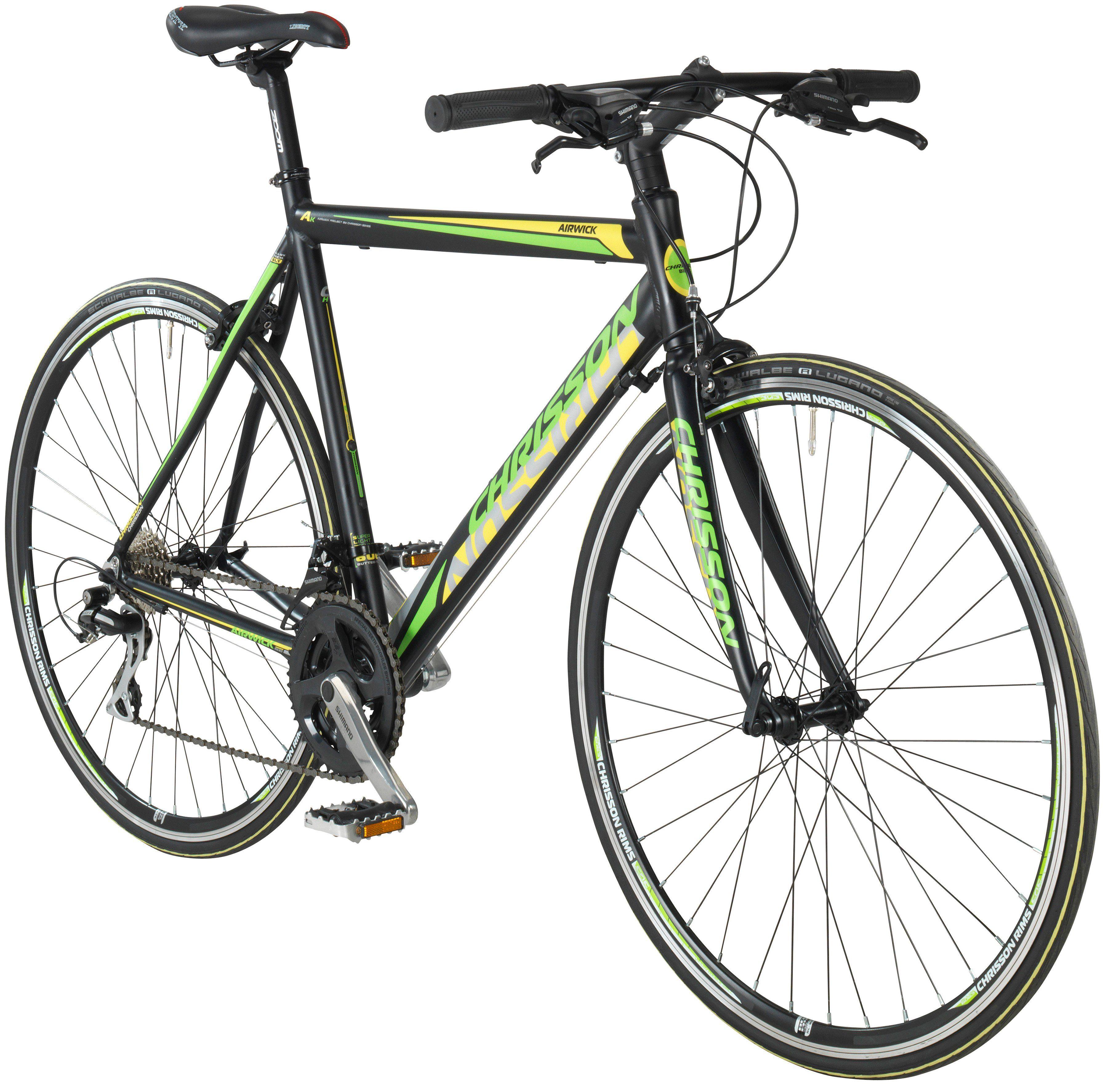 CHRISSON Fitnessbike »AIRWICK«, 28 Zoll, 24 Gang, Rennbremsen, RH 59