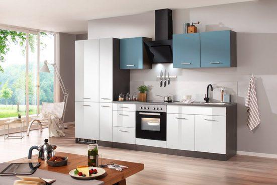 Küchenzeile mit E-Geräten »Genua«, 300 cm