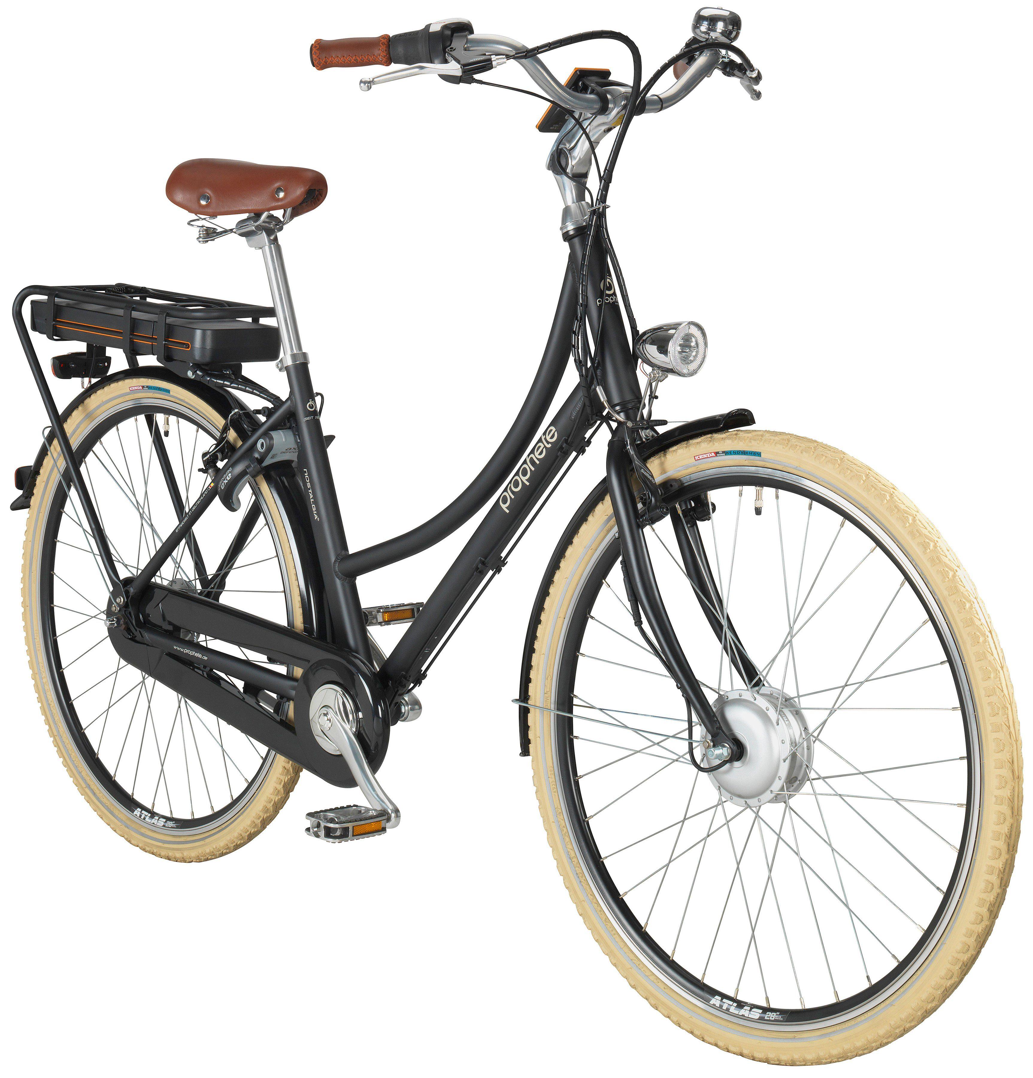 PROPHETE E-Bike Hollandrad »Nostalgia e«, 28 Zoll, 8-Gang, Frontmotor, 374 Wh