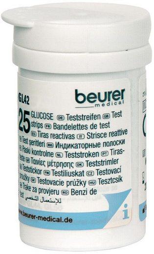 BEURER Blutzucker-Teststreifen »GL 42/ GL 43«, 50-St., zur Verwendung mit dem Beurer Blutzucker-Messgerät