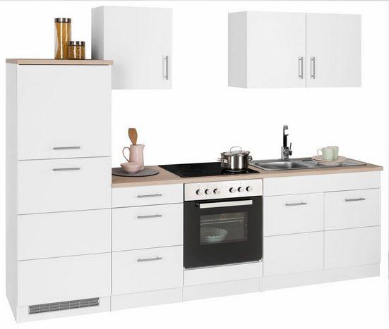 HELD MÖBEL Küchenzeile »Perth«, mit E-Geräten, Breite 270 cm