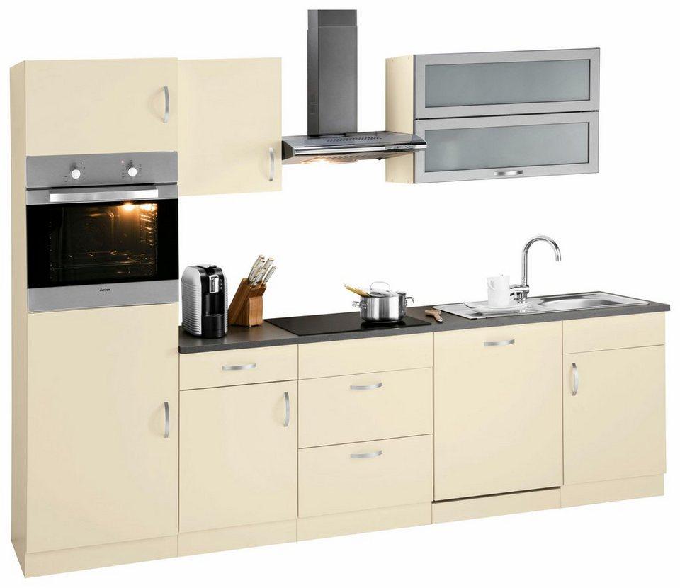 wiho amrum k chenzeile mit e ger ten breite 280 cm mit. Black Bedroom Furniture Sets. Home Design Ideas