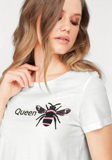 Vero Moda Rundhalsshirt QUEEN BEE
