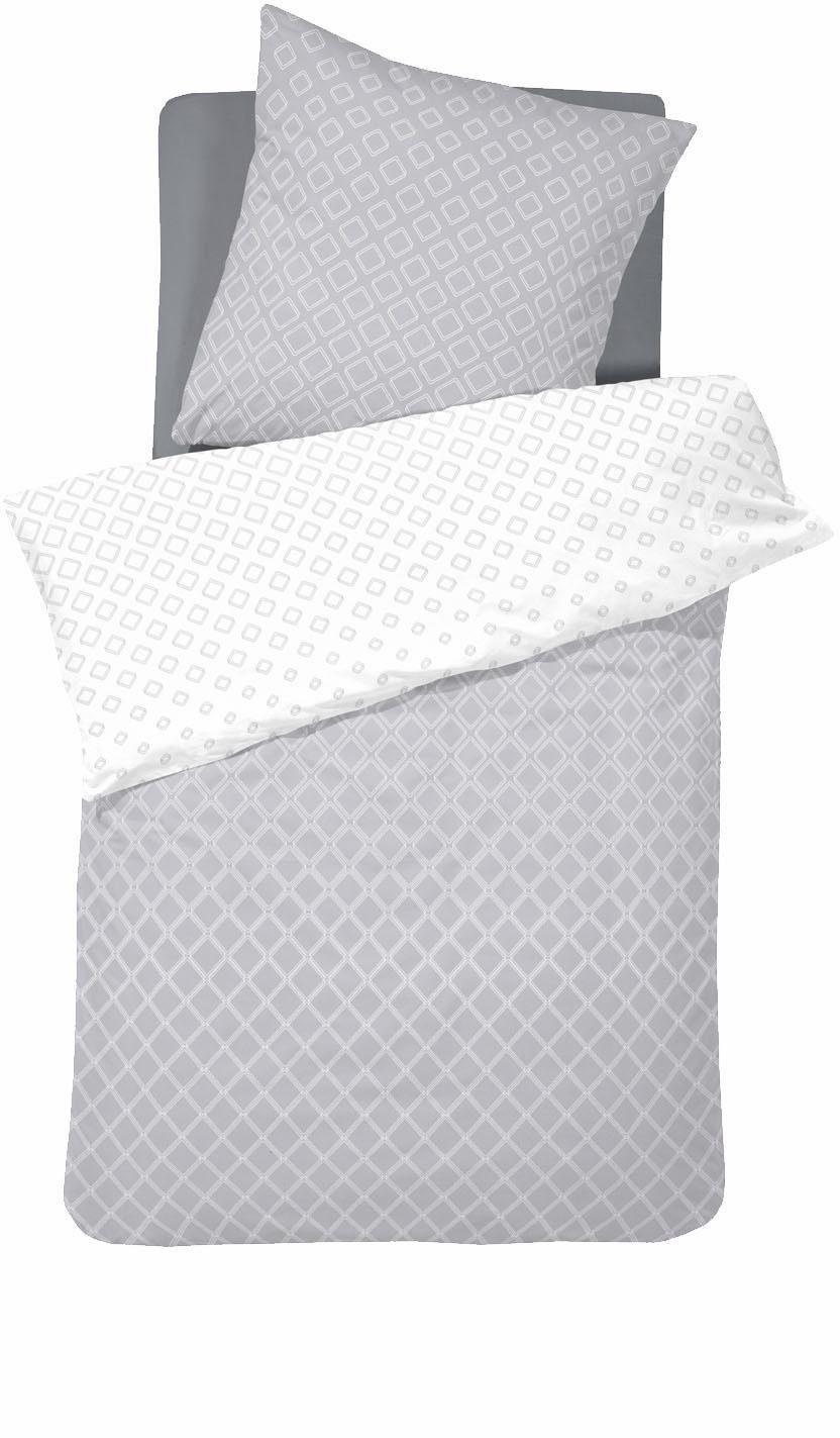 Wendebettwäsche »Fabricio«, damai, mit diamantförmigem Muster