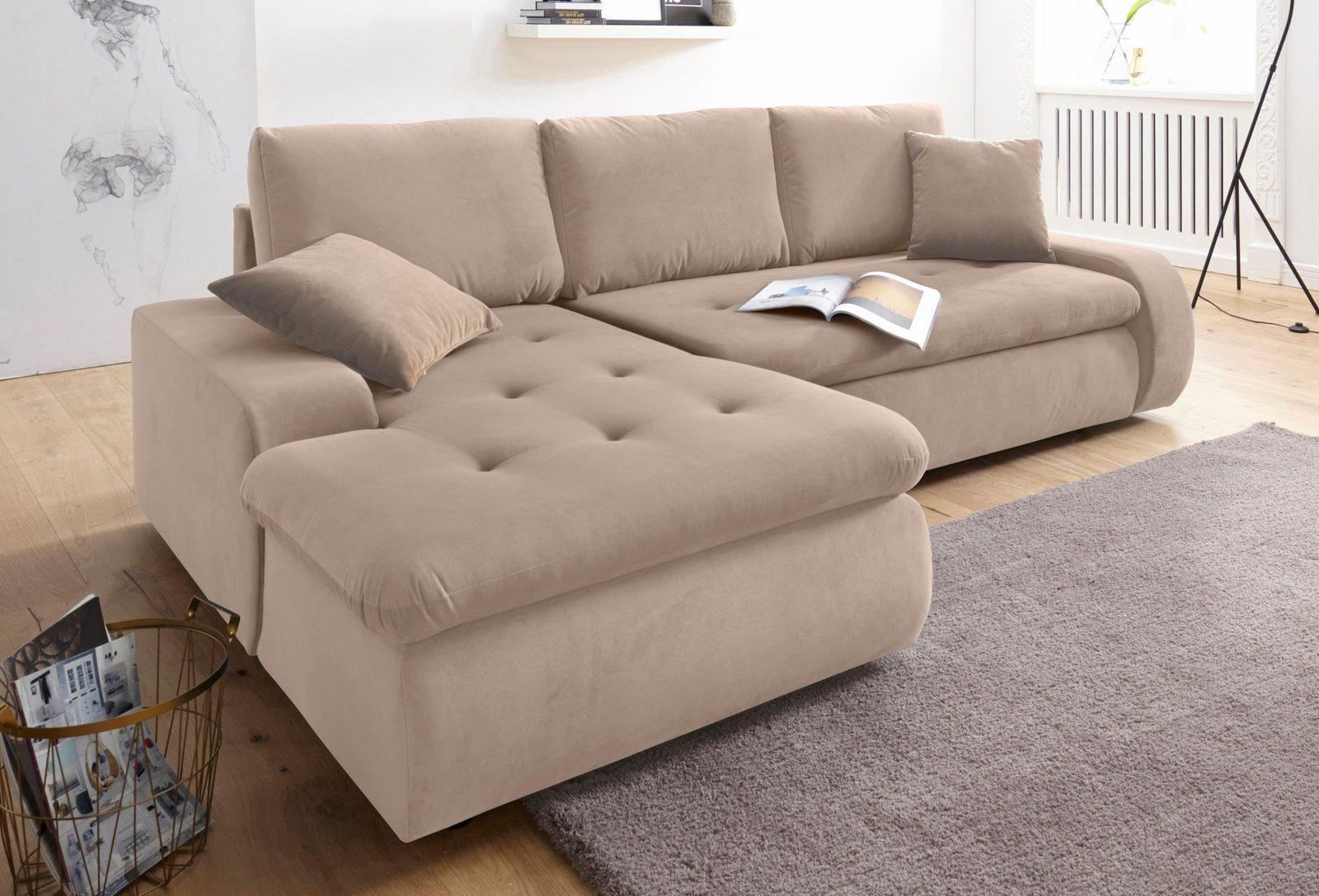 Trendmanufaktur Polsterecke XL, wahlweise mit Bettfunktion