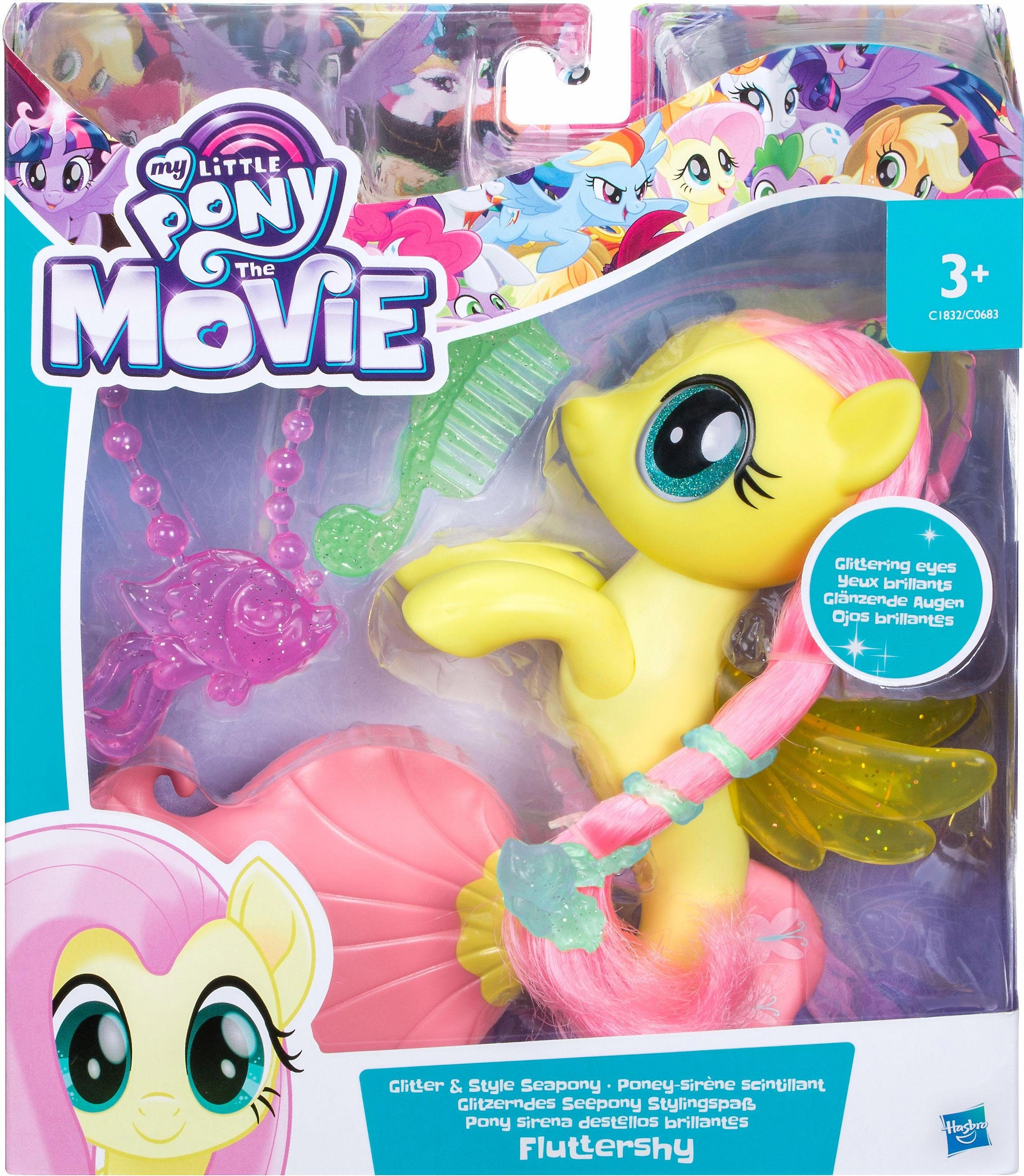 Hasbro Spielfigur, »My Little Pony Movie Glitzernde Seeponys Stylingspaß Fluttershy«