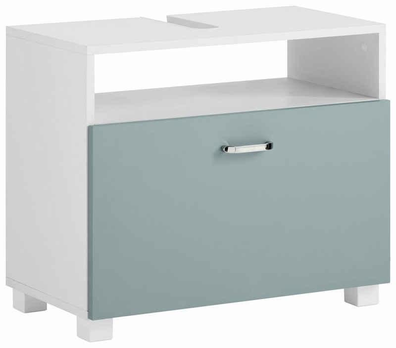 Schildmeyer Waschbeckenunterschrank »Colli« Höhe 54,5 cm, Badezimmerschrank mit Metallgriffen und 1 großen Schublade