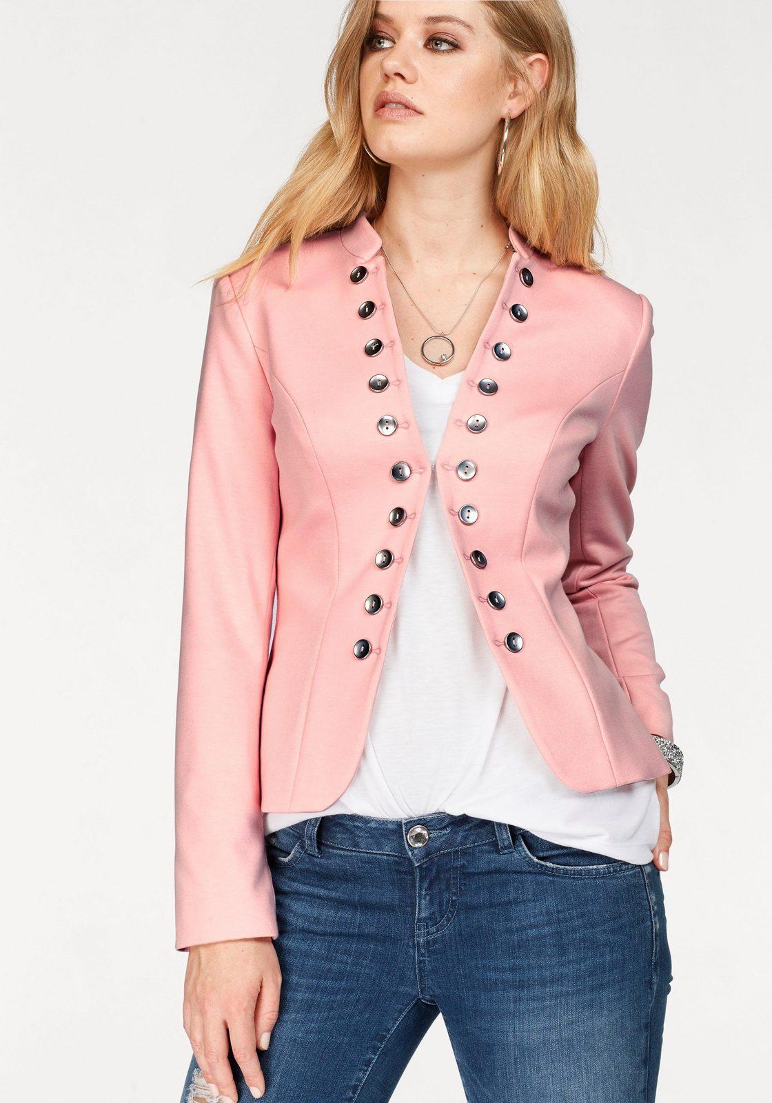 Melrose Blazer, im Uniform-Stil - broschei