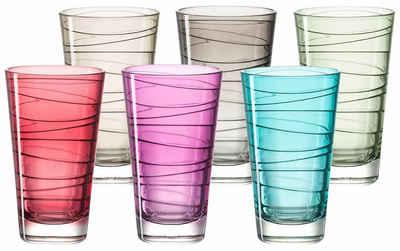 LEONARDO Glas »Colori«, Glas, Veredelte mit lichtechter Hydroglasur, 6-teilig
