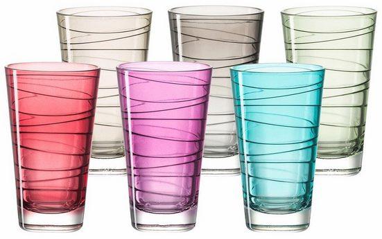 LEONARDO Glas »Colori« (6-tlg), Veredelte mit lichtechter Hydroglasur