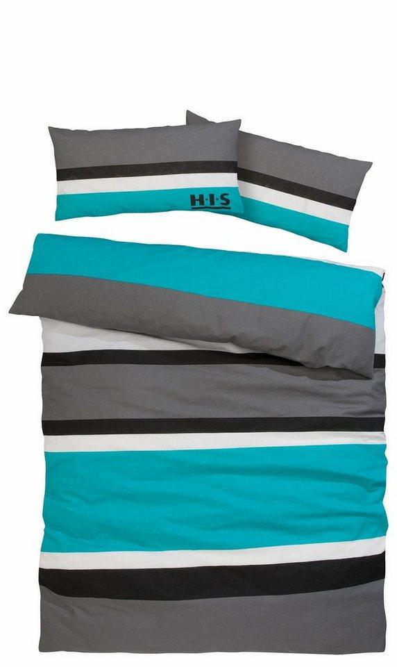 bettw sche trinity h i s mit modernen streifen otto. Black Bedroom Furniture Sets. Home Design Ideas
