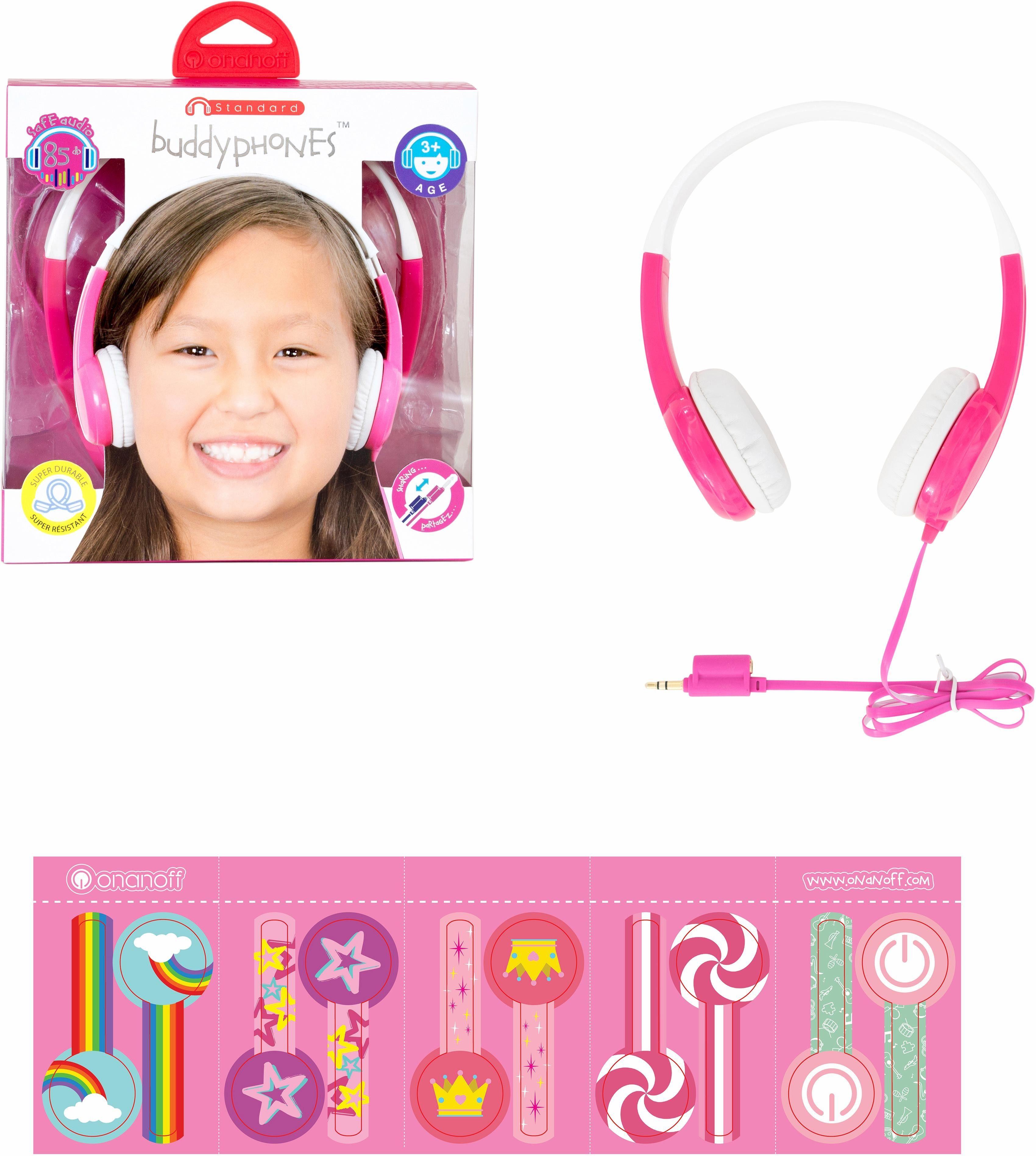 buddyphones™ Kinderkopfhörer, »Standard pink«