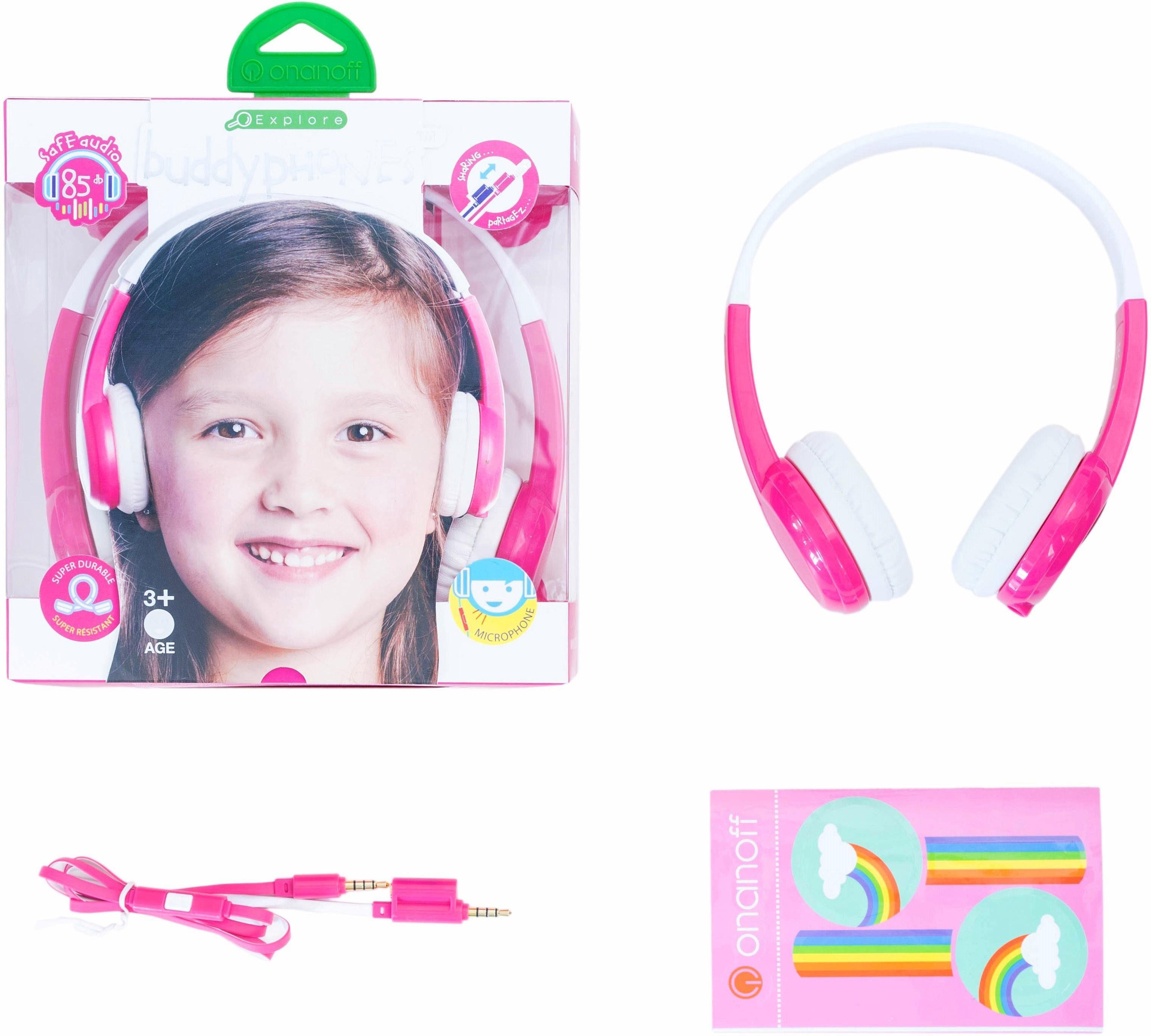 buddyphones™ Kinderkopfhörer, »Explore pink«