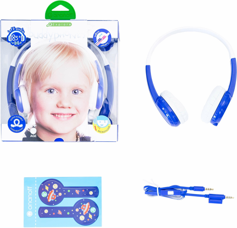 buddyphones™ Kinderkopfhörer, »Explore blau«
