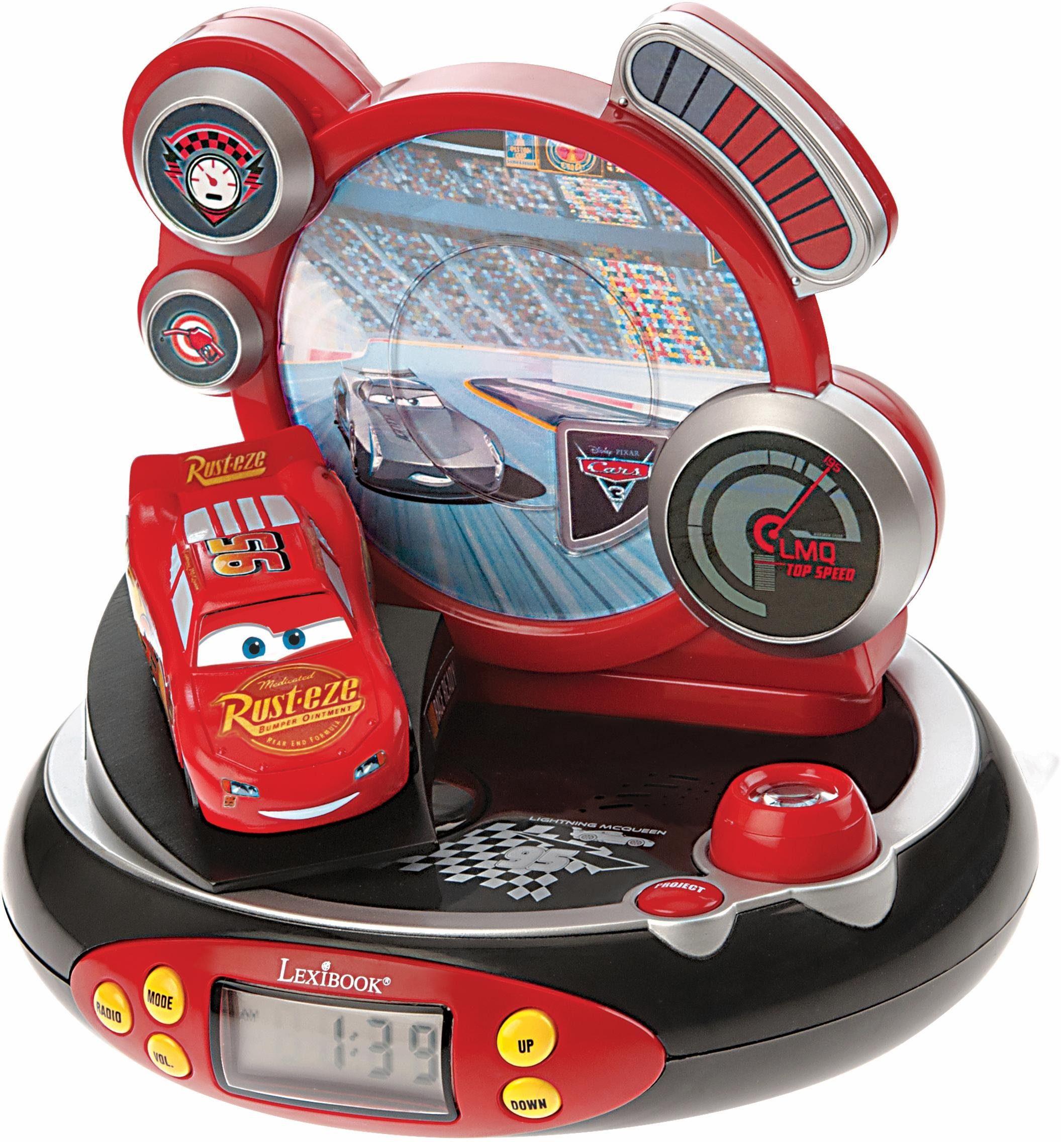 Lexibook, Radiowecker mit Projektion, »Disney Cars«