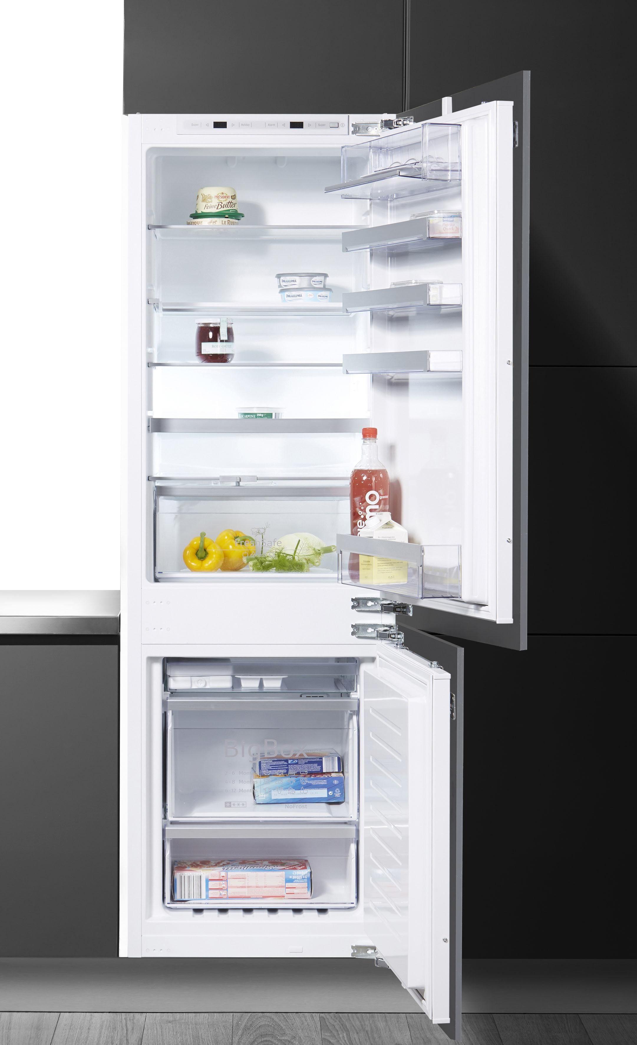 NEFF Einbaukühlgefrierkombination KF736A2 / KI7863D30, 177,2 cm hoch, 54,5 cm breit, Energieeffizienzklasse A++, 178 cm