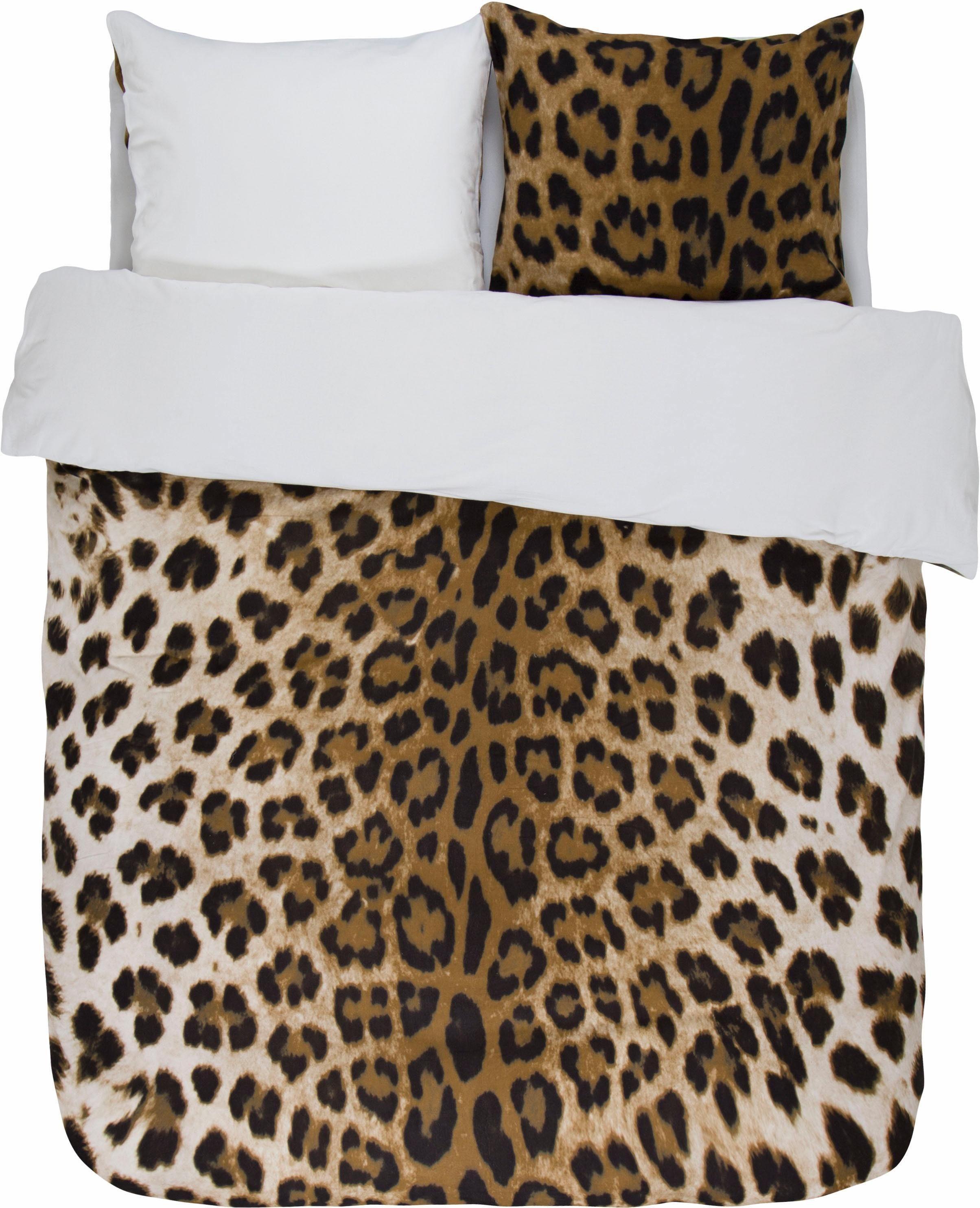 Wendebettwäsche »Leopard«, Essenza, in Fell-Optik