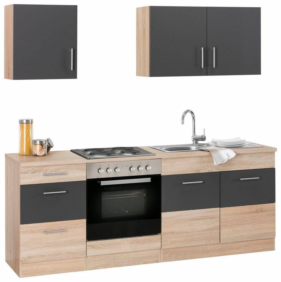 Küchenzeile »Perth«, Mit E Geräten, Breite 210 Cm