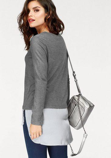 Vero Moda 2-in-1-Pullover ANIA, mit Bluseneinsatz