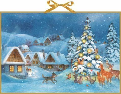 Kalender »Adventskalender - Weihnachtsdämmerung«