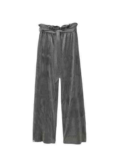 MANGO Plissierte Hose mit Metallic-Effekt