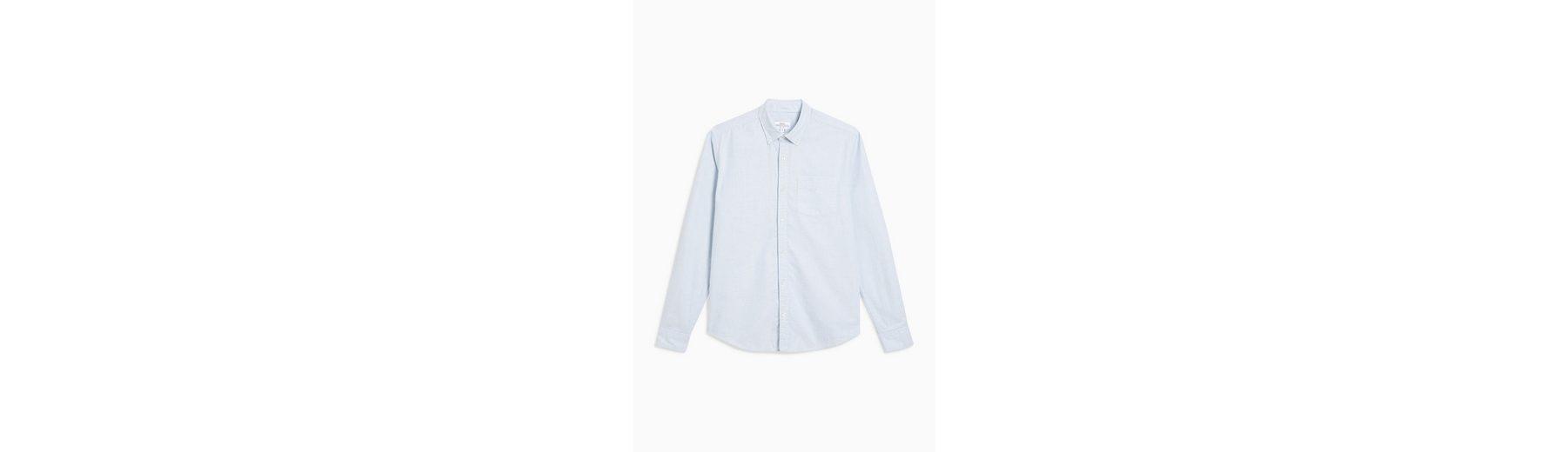 Next Gestreiftes Oxford-Hemd mit langen Ärmeln 100% Authentisch qsEwjrVYHm