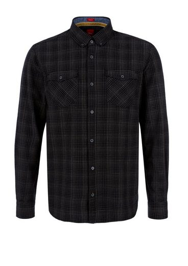 s.Oliver RED LABEL Slim: Kariertes Button-Down-Hemd