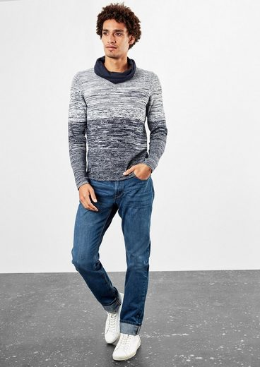 Q / S Designed By Finely Knit Sweater With Gradient