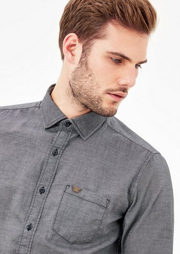 s.Oliver RED LABEL Slim: Hemd aus leichtem Twill