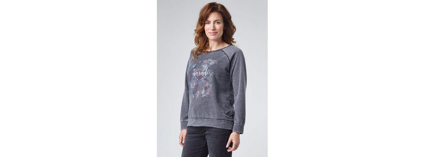 Freies Verschiffen Sammlungen PIONEER Damen Sweatshirt mit Blumenprint Sweatshirt Freies Verschiffen Authentische D0BmWQci