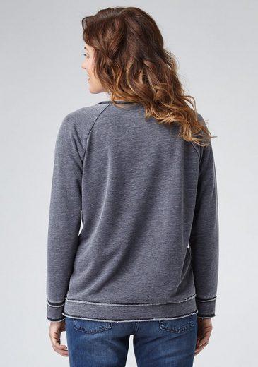 PIONEER Damen Sweatshirt mit Känguru-Tasche