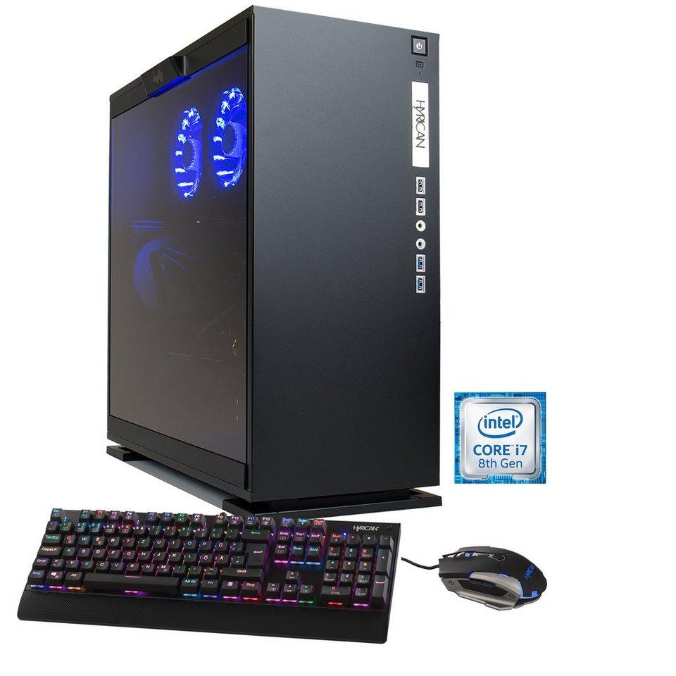 hyrican gaming pc intel i7 8700k 32gb ssd hdd. Black Bedroom Furniture Sets. Home Design Ideas