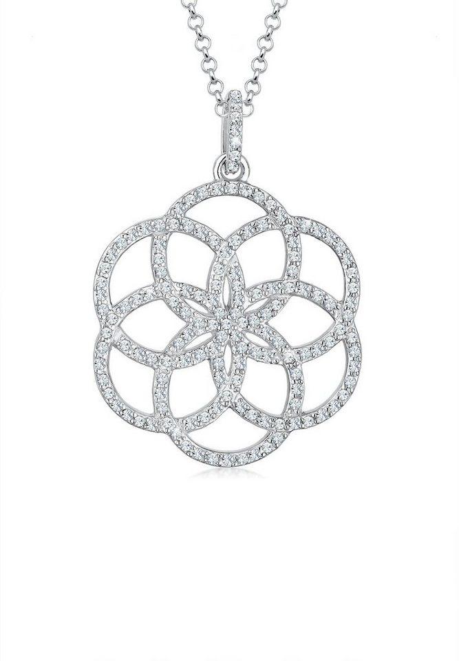 elli halskette blume ornament swarovski kristalle 925. Black Bedroom Furniture Sets. Home Design Ideas